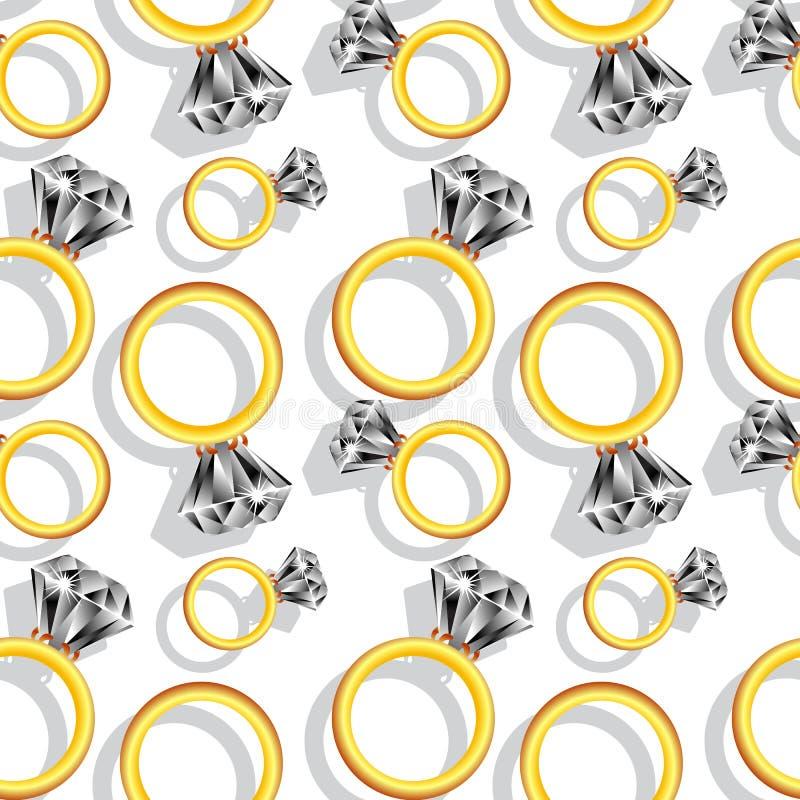 Teste padrão dos anéis de diamante ilustração royalty free