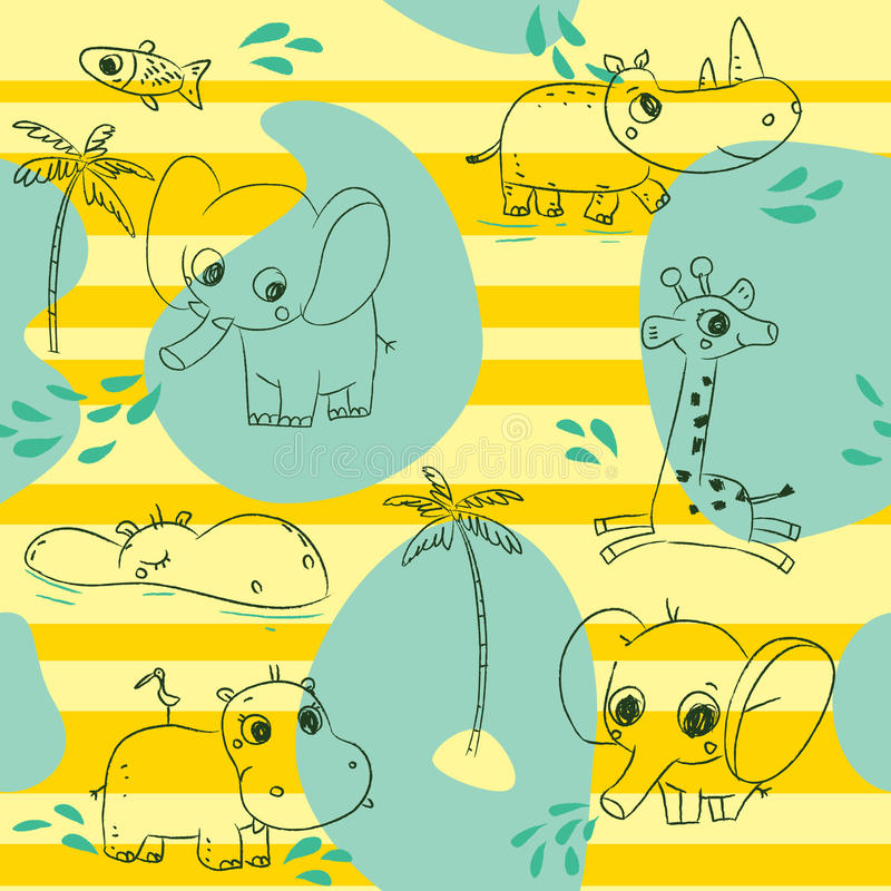 Teste padrão dos animais ilustração royalty free