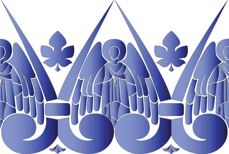 Teste padrão dos anjos ilustração royalty free