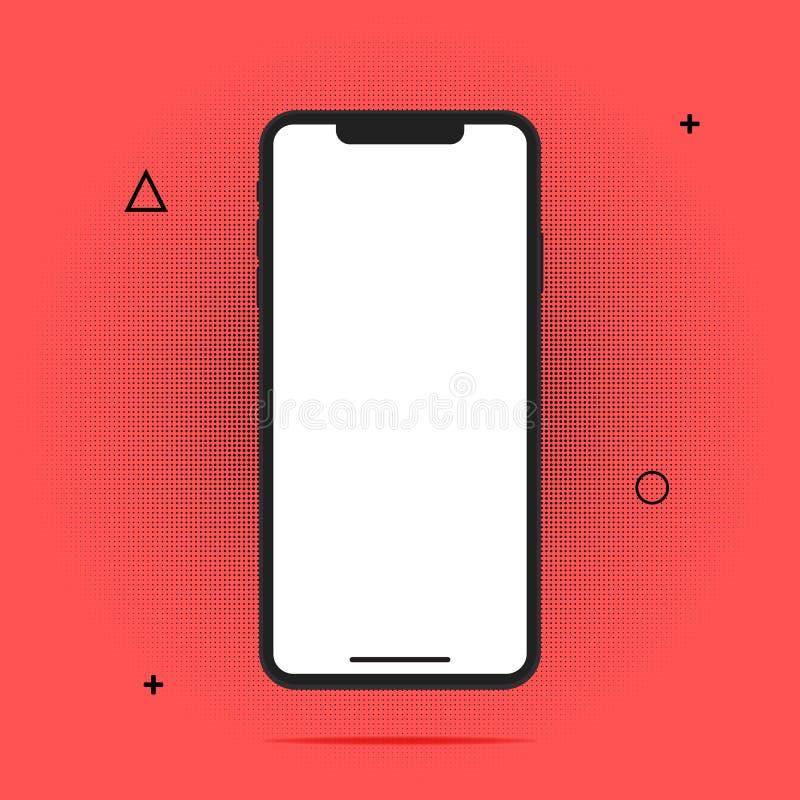 Teste padrão dos círculos do ícone do telefone celular para apresentações do negócio, tampa da aplicação ou projeto do site abstr ilustração royalty free