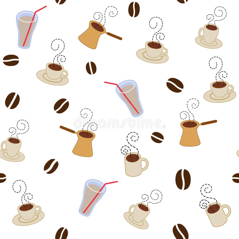 Download Teste Padrão Dos Copos De Café Ilustração do Vetor - Ilustração de açúcar, pattern: 15718777