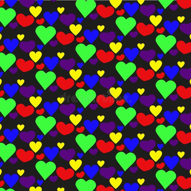 Teste padrão dos corações para presentes imagens de stock