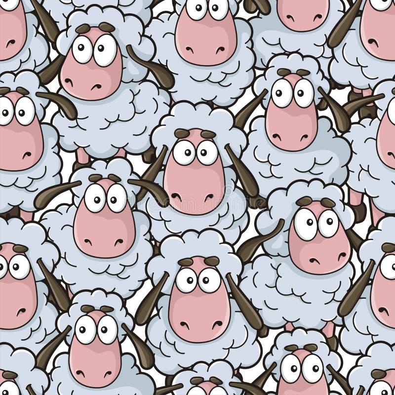 Teste padrão dos desenhos animados dos carneiros ilustração do vetor