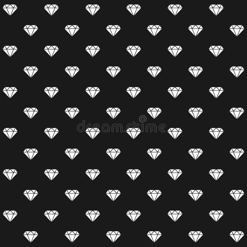 Teste padrão dos diamantes ilustração royalty free