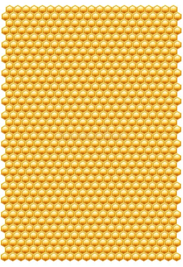 Teste padrão dos favos de mel da abelha ilustração do vetor