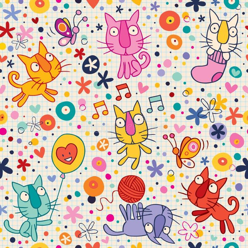 Teste padrão dos gatinhos ilustração stock