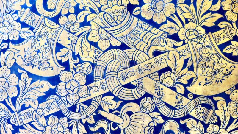 Teste padrão dos machados e de flores foto de stock royalty free