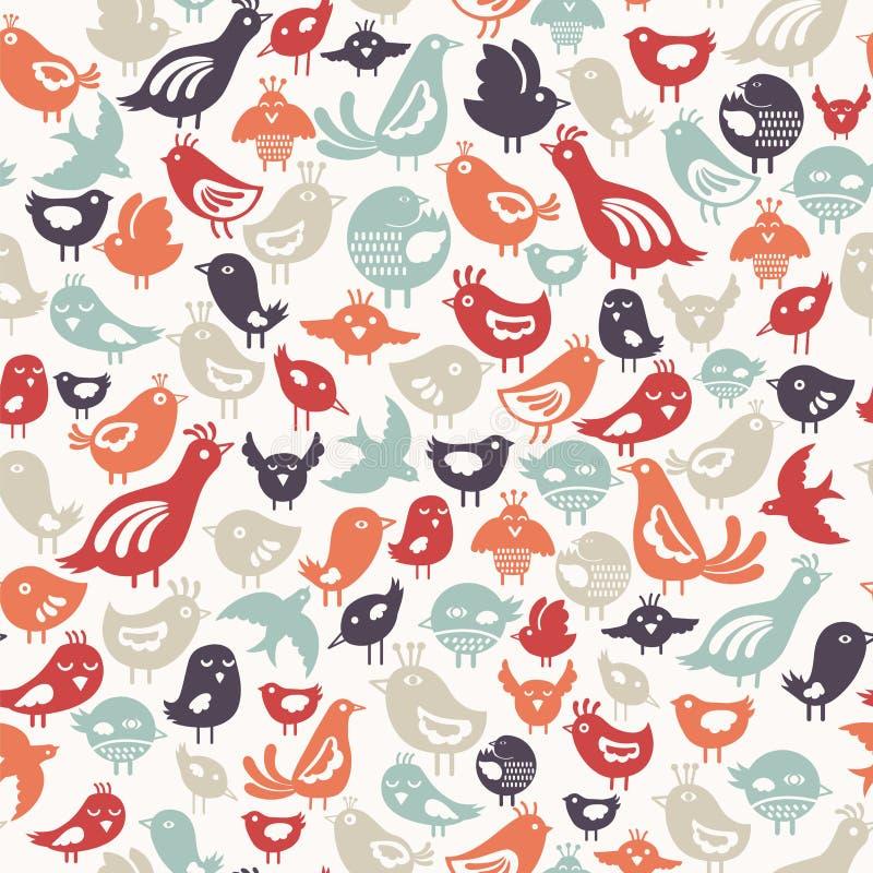 Teste padrão dos pássaros ilustração stock