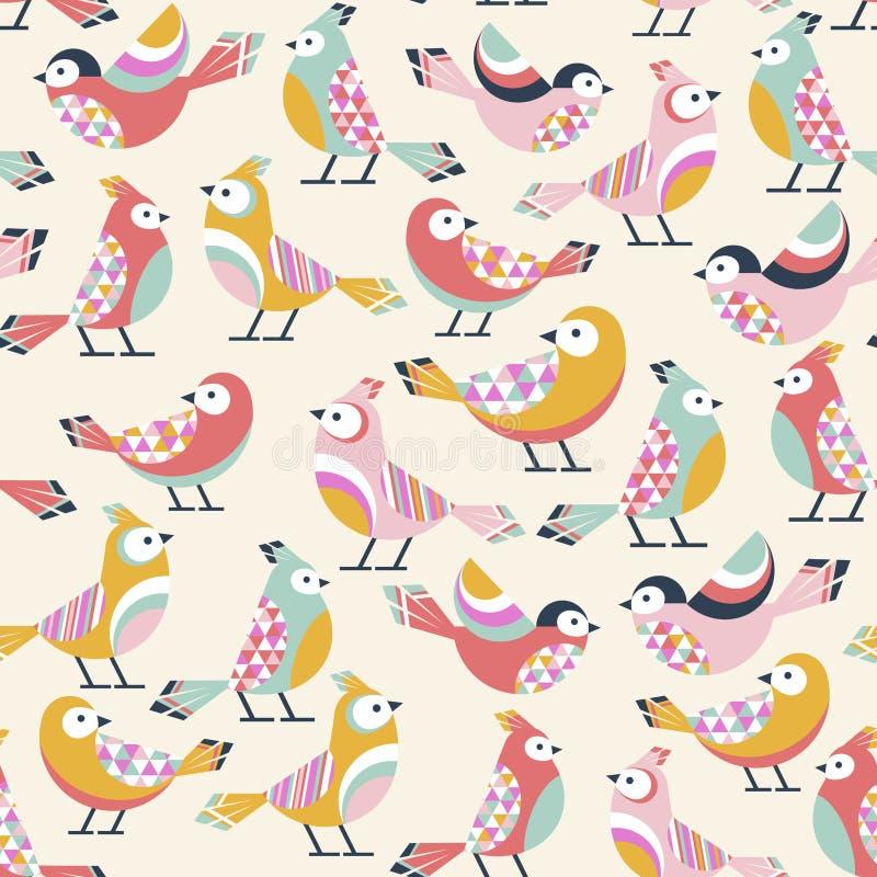 Teste padrão dos pássaros ilustração royalty free