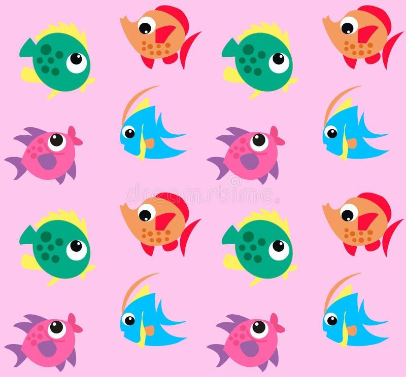 Teste padrão dos peixes ilustração do vetor