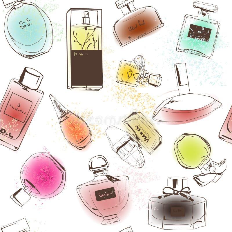 Teste padrão dos perfumes ilustração do vetor