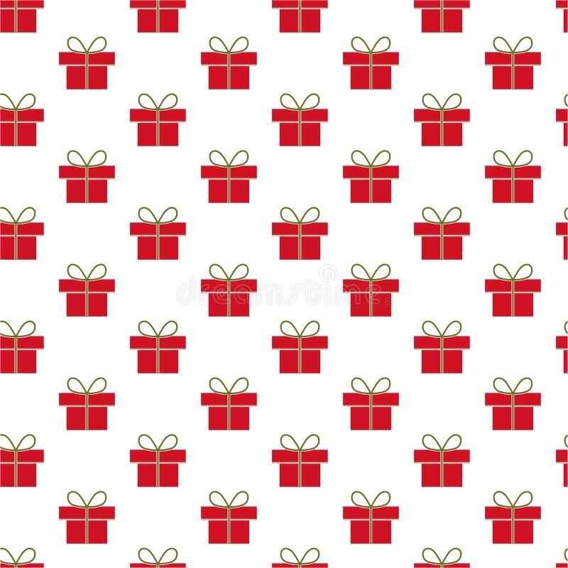 Teste padrão dos presentes do Natal imagens de stock royalty free