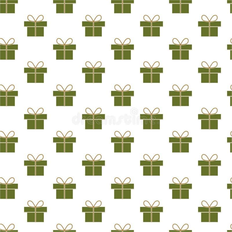 Teste padrão dos presentes do Natal fotografia de stock