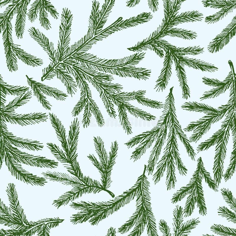 Teste padrão dos ramos do abeto ilustração royalty free