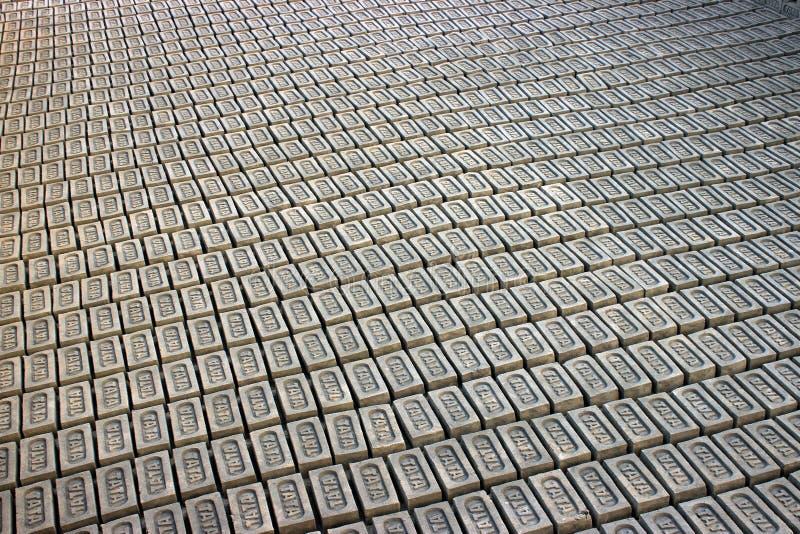 Teste padrão dos tijolos fotografia de stock