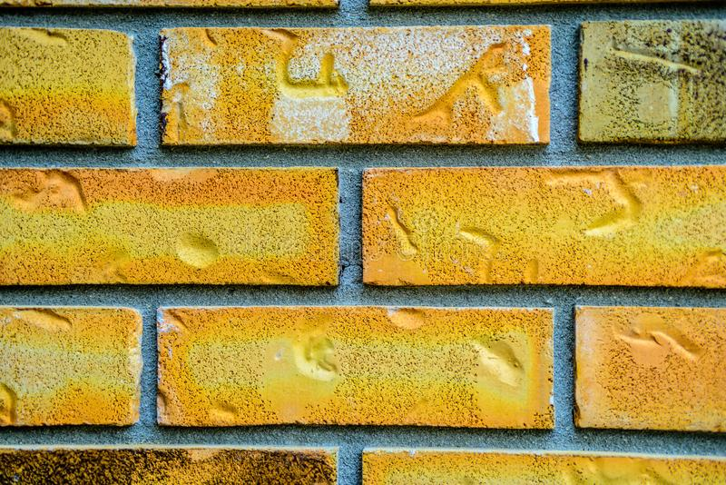Teste padrão dos tijolos e do almofariz agrupados como o fundo abstrato fotografia de stock
