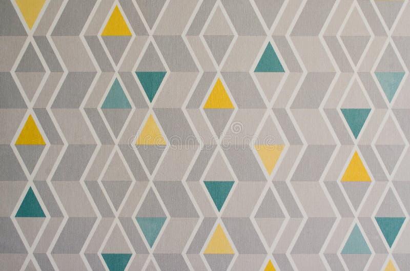 Teste padrão dos triângulos na textura do espaço, fundo abstrato Ilustração geométrica simples fotos de stock royalty free
