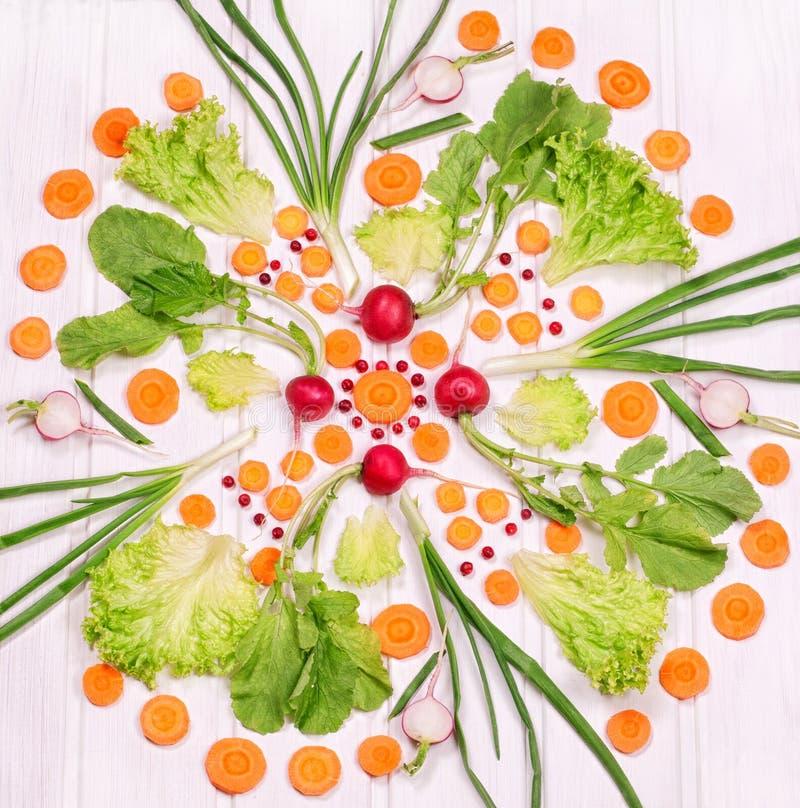 Teste padrão dos vegetais em um fundo branco imagens de stock