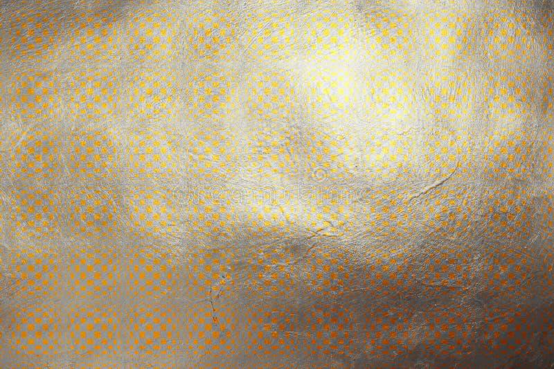 Teste padrão dourado quadriculado criativo shinning sem emenda digital moderno dinâmico da textura no fundo de prata Elemento d ilustração do vetor