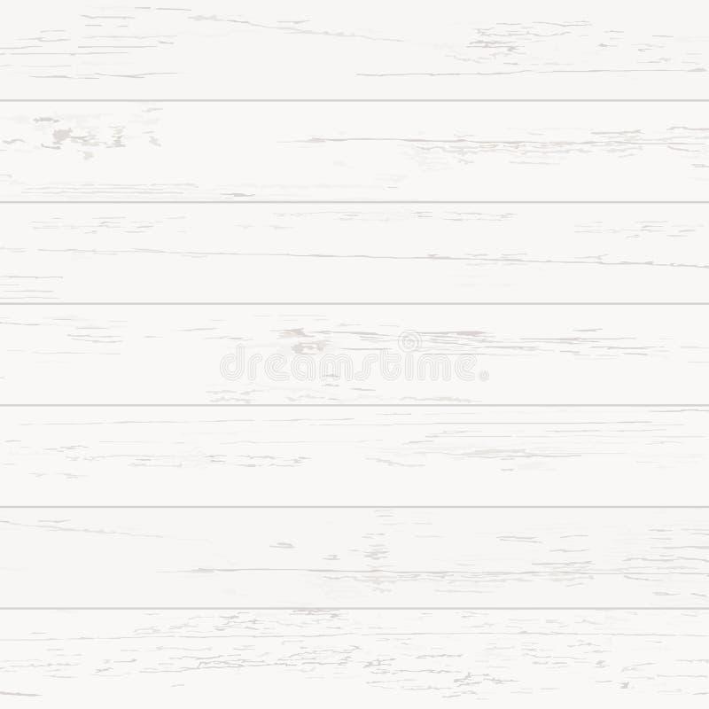 Teste padrão e textura de madeira brancos para o fundo Vetor ilustração do vetor