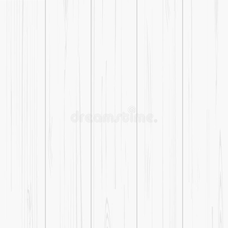 Teste padrão e textura de madeira brancos para o fundo Vetor ilustração stock