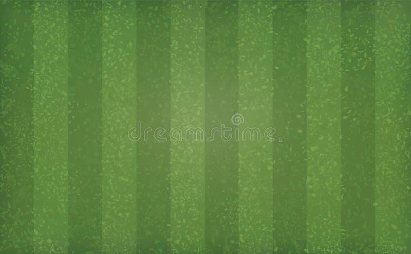 Teste padrão e textura do campo de grama verde para o fundo do esporte e da recreação ilustração do vetor