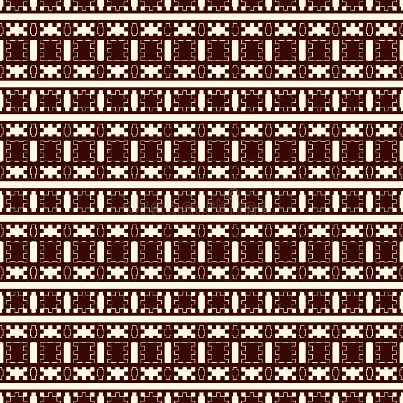 Teste padrão eamless do soutline étnico do estilo Fundo abstrato dos nativos americanos Motivo tribal Papel digital chique de Boh ilustração do vetor
