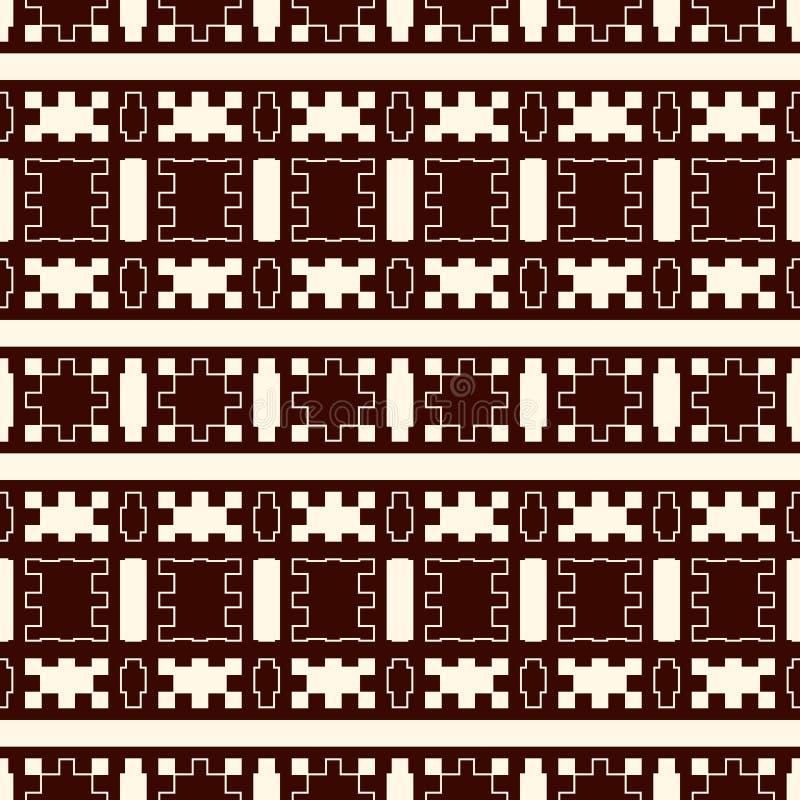 Teste padrão eamless do soutline étnico do estilo Fundo abstrato dos nativos americanos Motivo tribal Papel digital chique de Boh ilustração stock