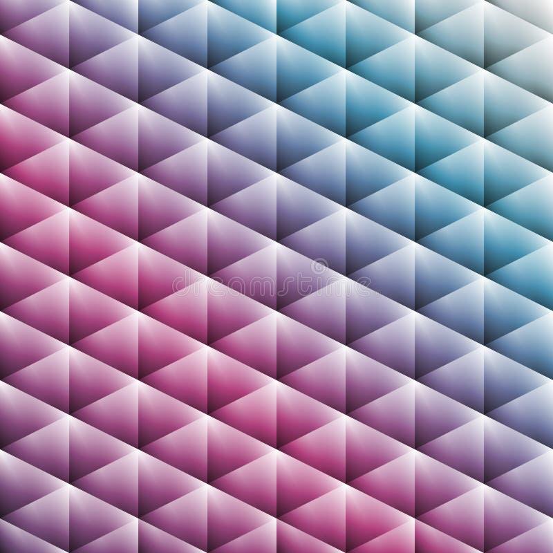 Teste padrão elegante de triângulos coloridos do inclinação nas cores pastel ilustração stock