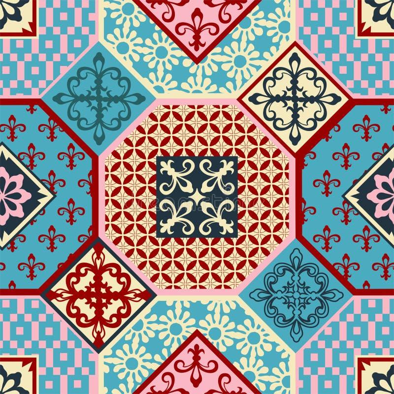 Teste padrão elegante no estilo árabe, fundo sem emenda, vetor do arabesque ilustração royalty free