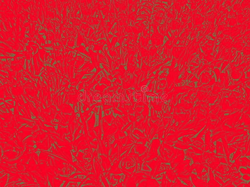 Teste padrão em cores vermelhas e verdes ilustração stock