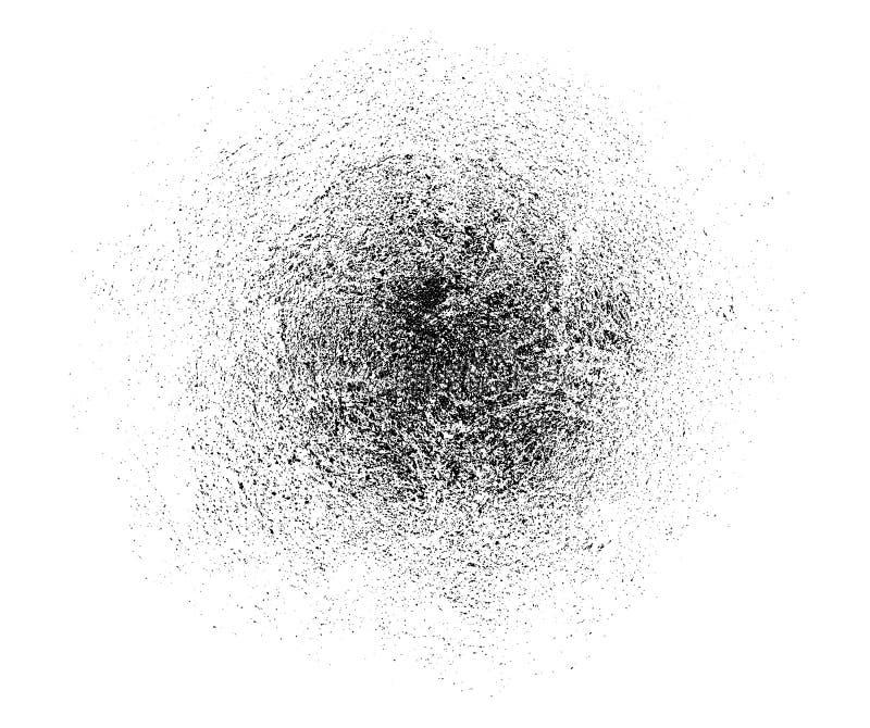 Teste padrão empoeirado da textura do vetor para seu projeto do grunge Partículas de poeira finas A textura da aflição da grão To ilustração do vetor