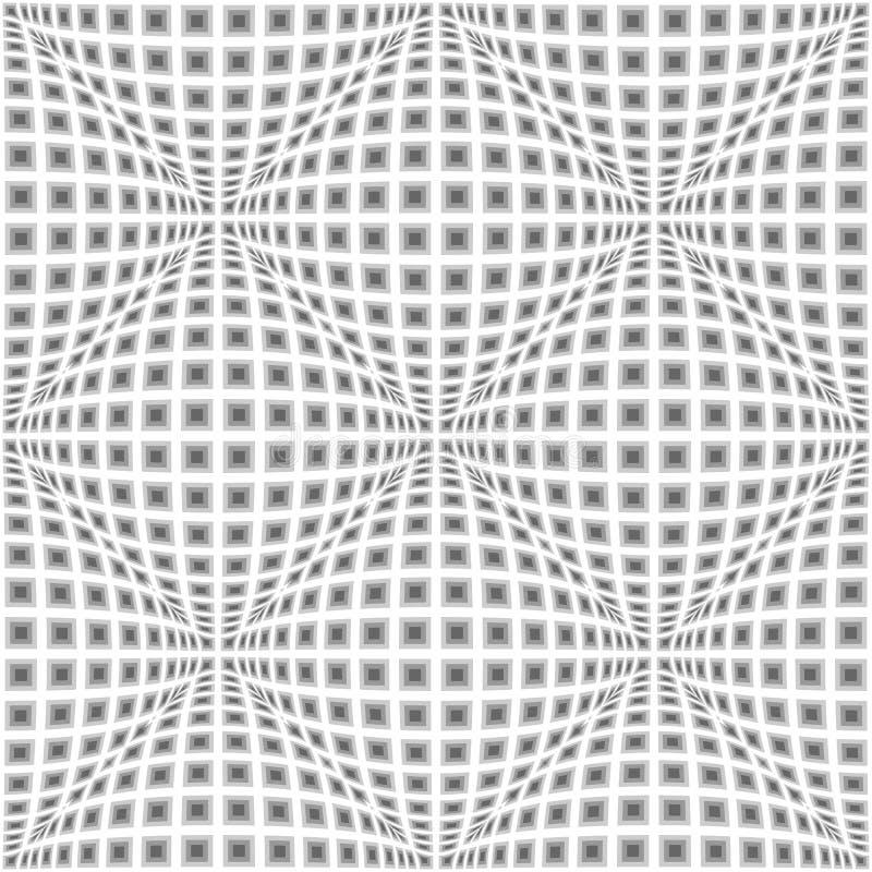 Teste padrão entortado do projeto monochrome sem emenda ilustração stock