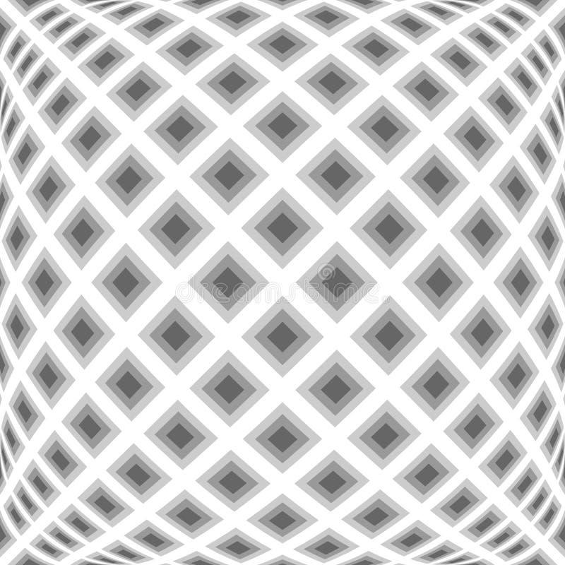 Teste padrão entortado monochrome do diamante do projeto ilustração royalty free