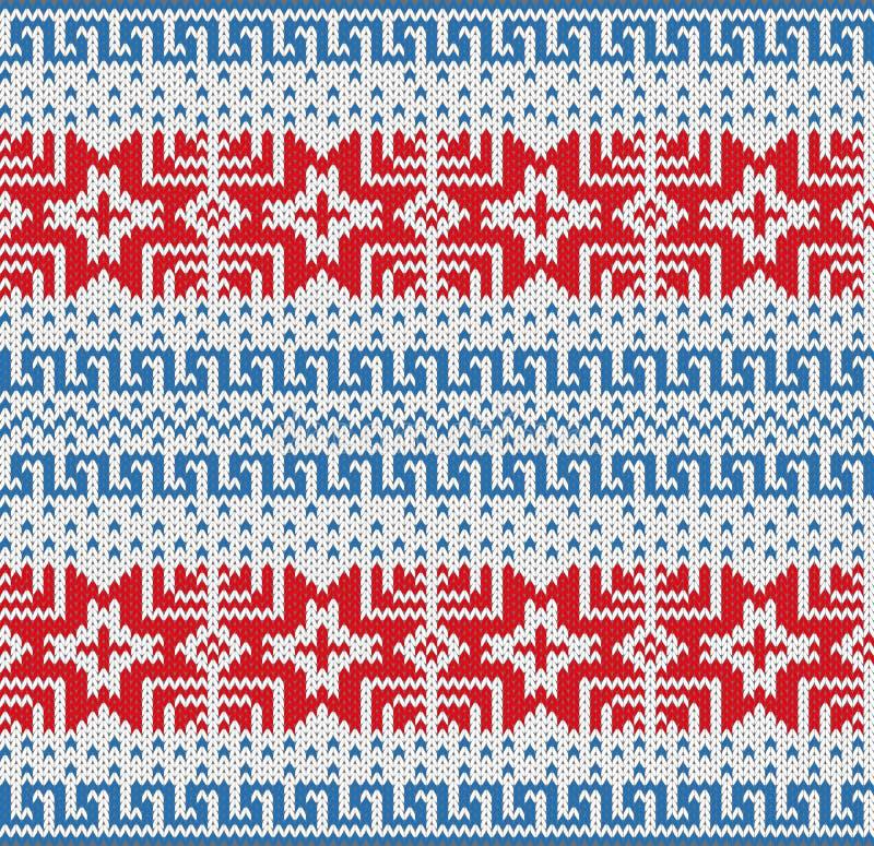 Teste padrão escandinavo tradicional. ilustração stock