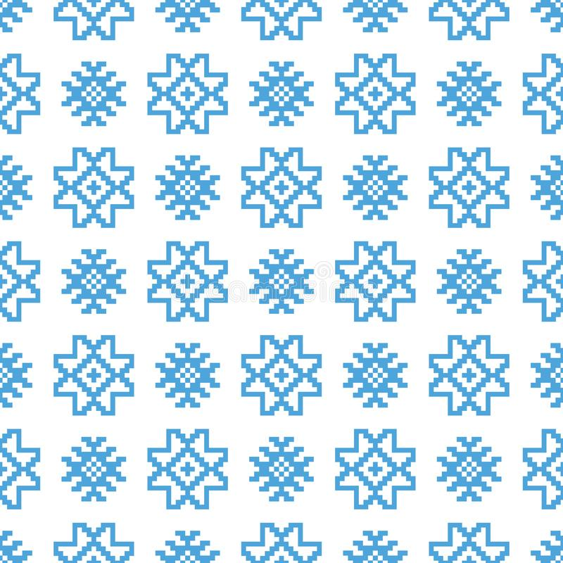 Teste padrão escandinavo tradicional Fundo sem emenda étnico nórdico ilustração royalty free