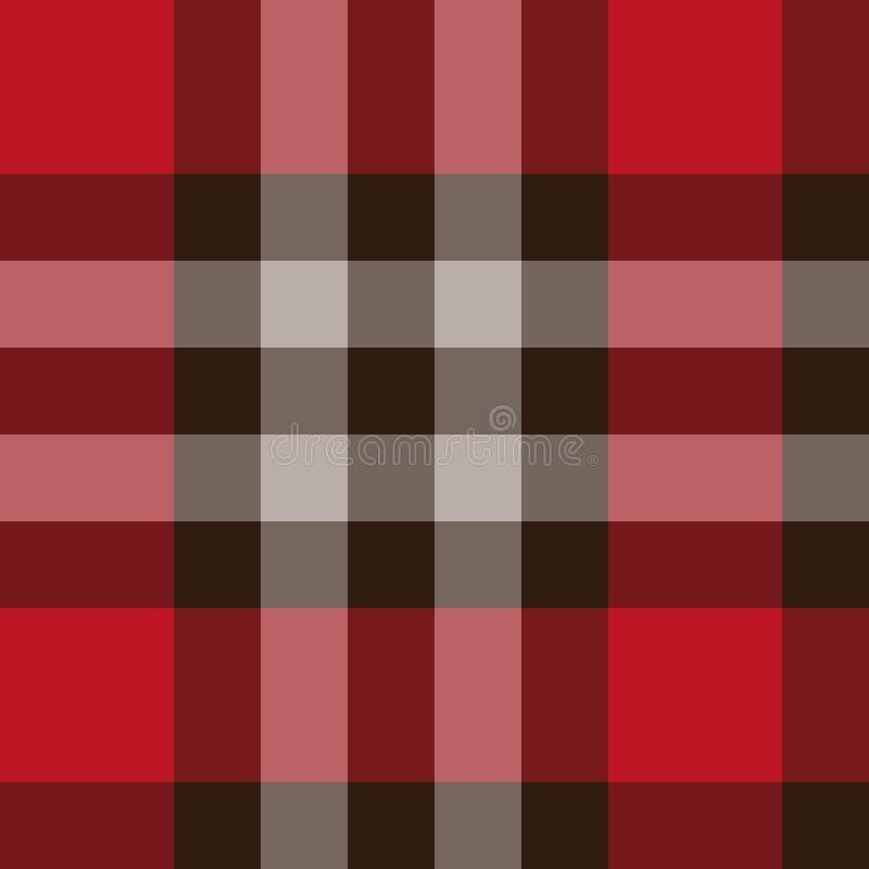 Teste padrão escocês da manta sem emenda ilustração do vetor
