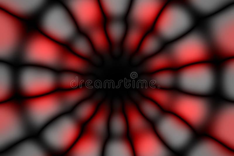 Teste padrão escuro do círculo radial colorido fotos de stock royalty free