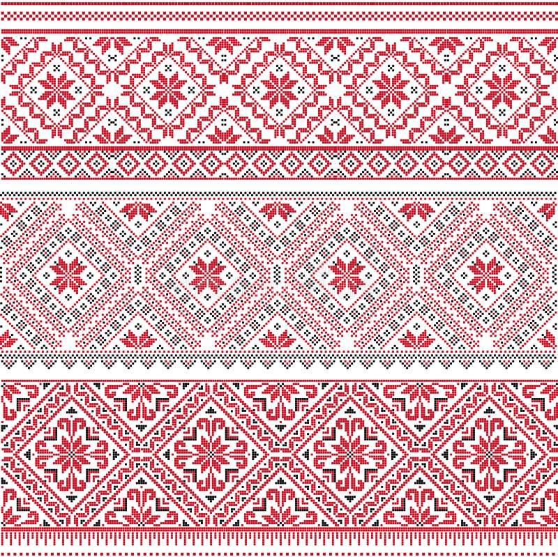 Teste padrão eslavo ilustração do vetor