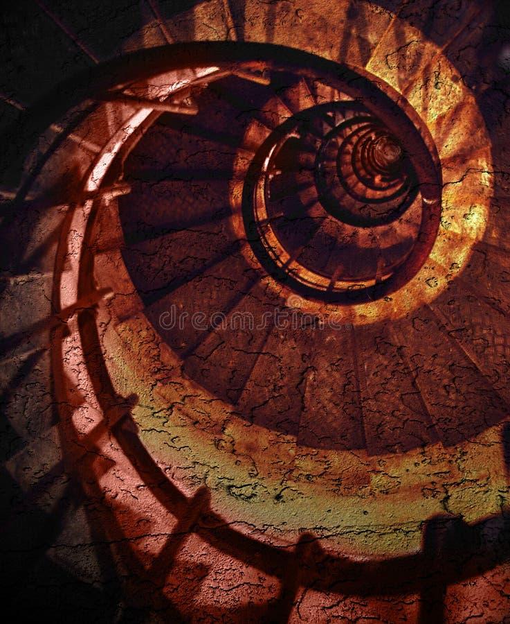 Teste padrão espiral abstrato ilustração royalty free