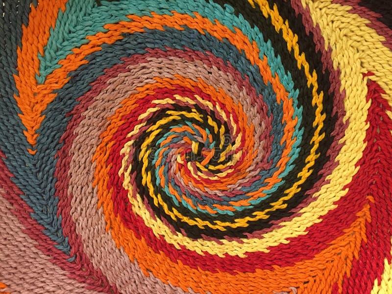 Teste padrão espiral colorido imagem de stock
