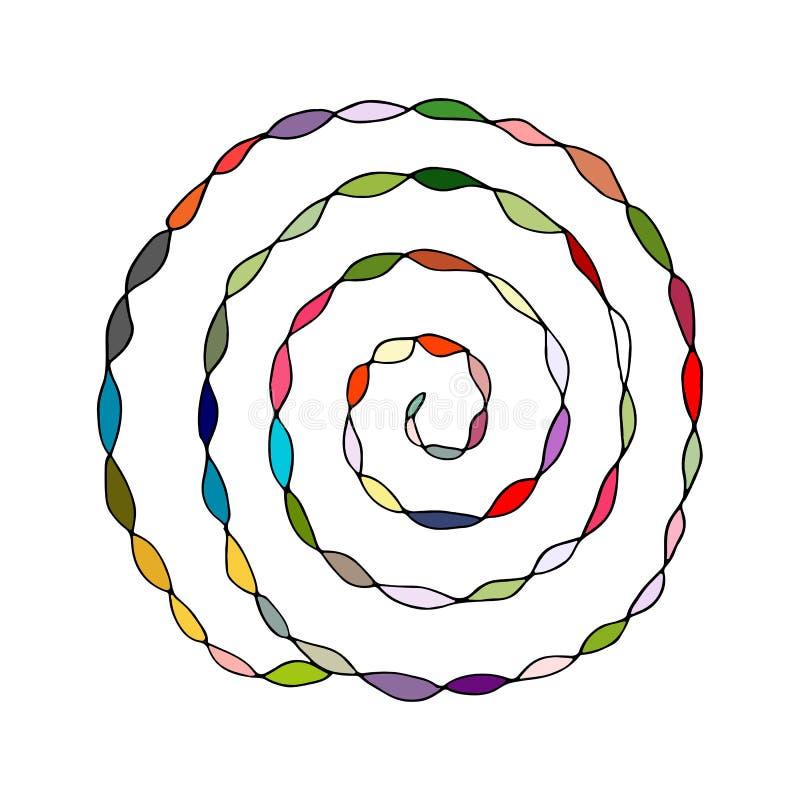 Teste padrão espiral colorido, esboço para seu projeto ilustração royalty free