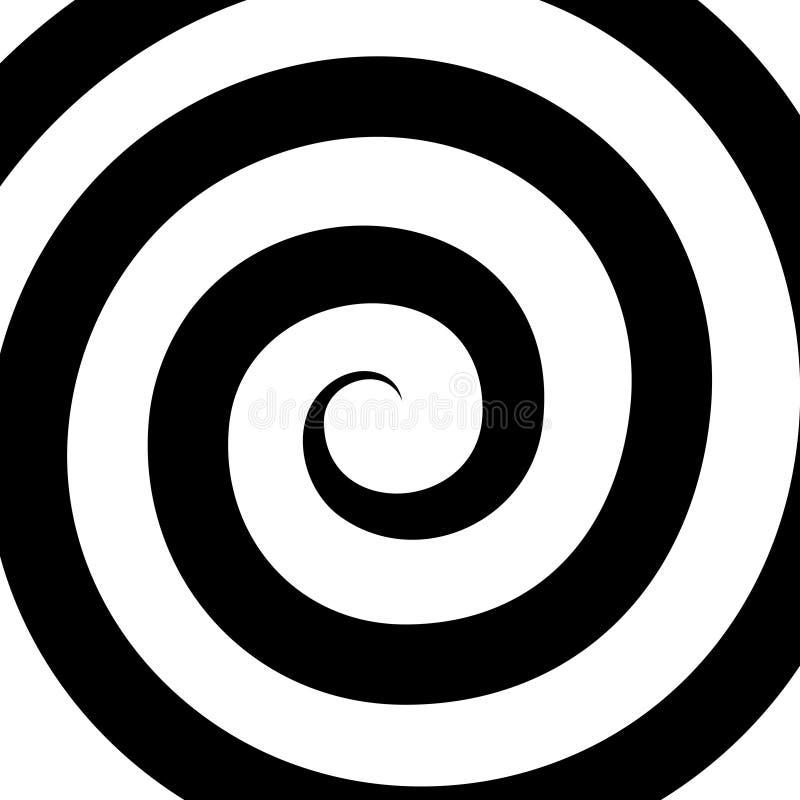 Teste padrão espiral da hipnose Ilusão ótica Vetor ilustração royalty free