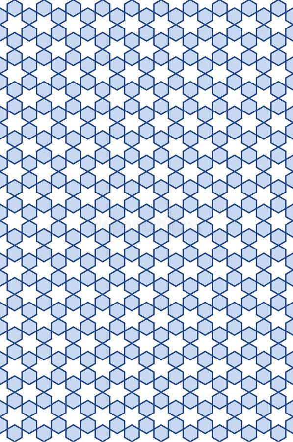 Teste padrão estelar sem emenda azul ilustração do vetor
