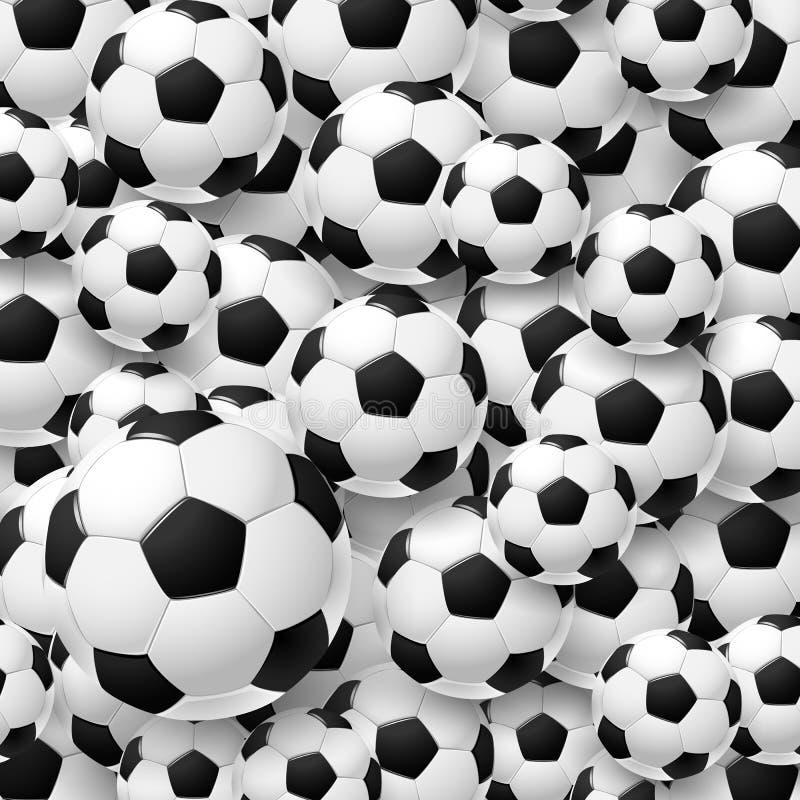 Teste padrão feito da bola de futebol do futebol ilustração do vetor