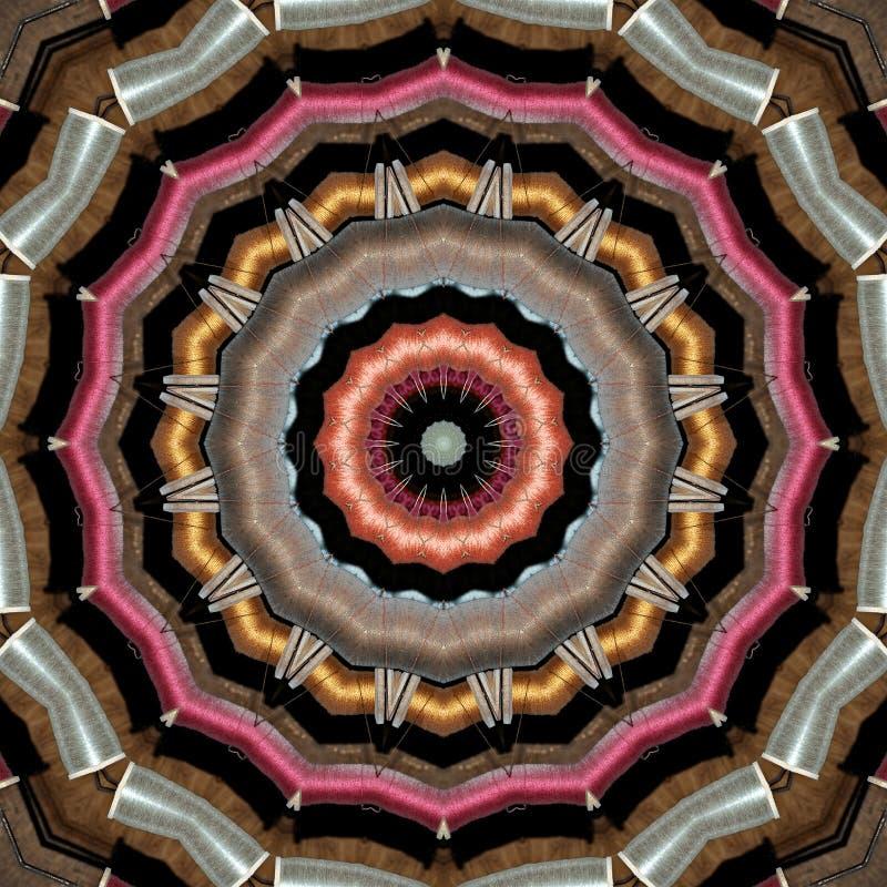 Teste padrão feito de carretéis coloridos do fio ilustração royalty free