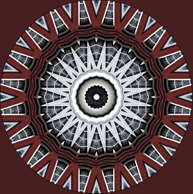 Teste padrão feito de uma casa metade-suportada vista através do caleidoscópio ilustração royalty free