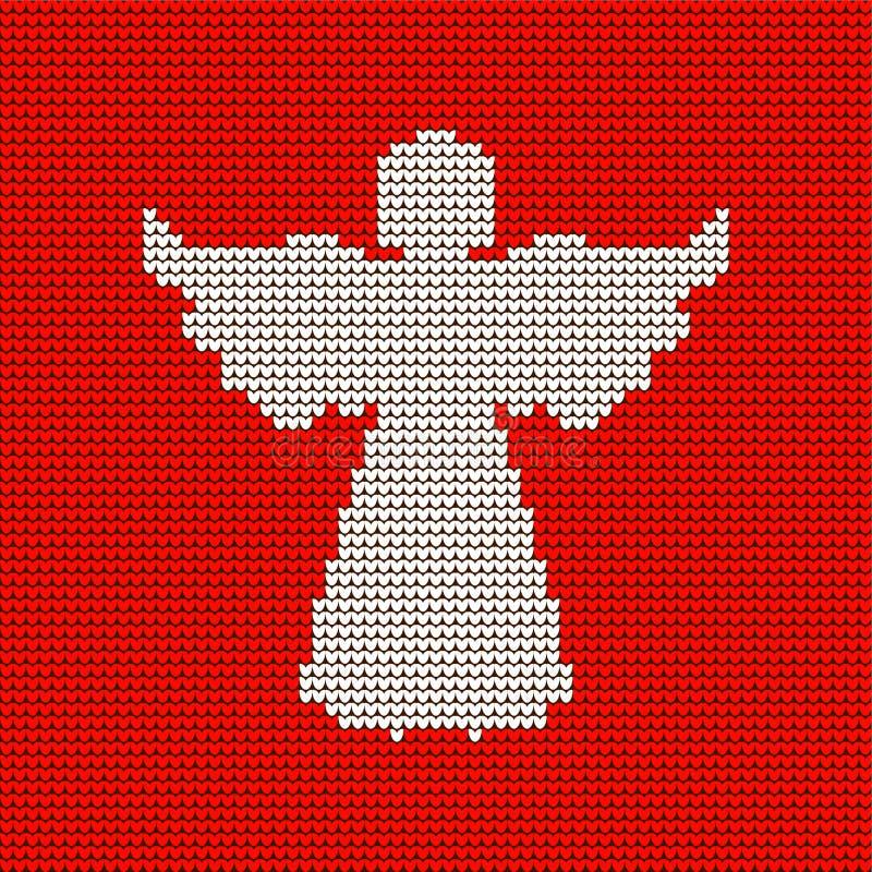 Teste padrão feito malha, anjo celestial Natal ilustração stock
