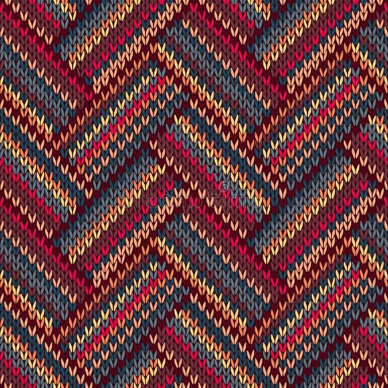 Teste padrão feito malha do estilo cor sem emenda ilustração royalty free