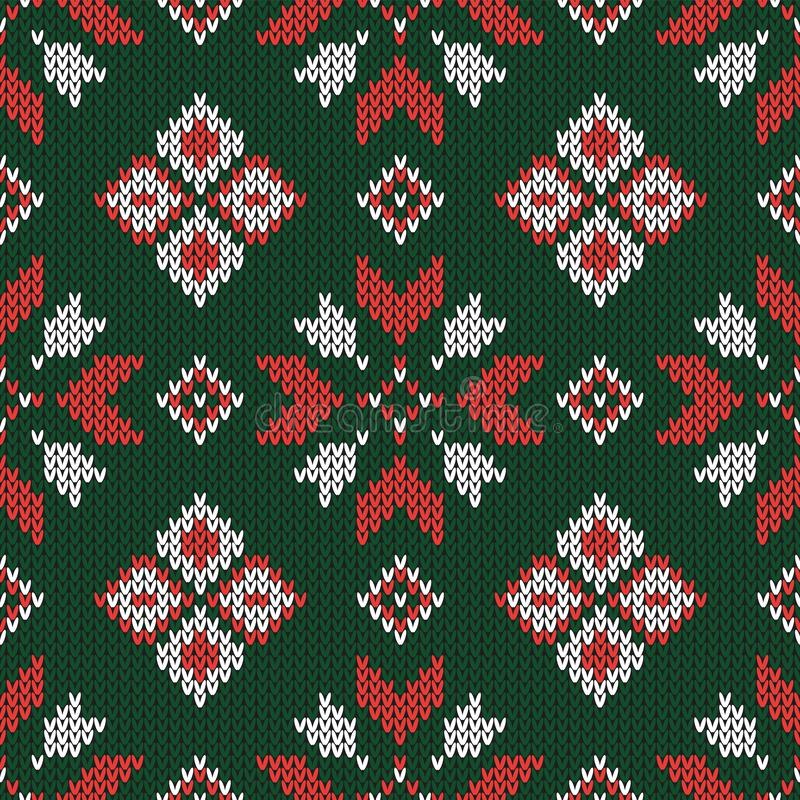 Teste padrão feito malha Natal Teste padrão sem emenda abstrato geométrico ilustração royalty free